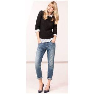 ANN TAYLOR Destructed Denim Boyfriend Jeans [E2]